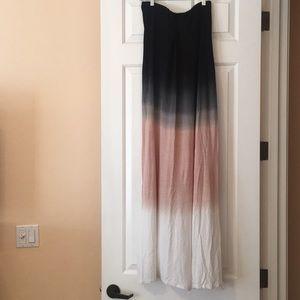 Strapless Maxi Dress Ombré szL